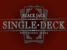 Играть в Single Deck Blackjack Professional Series
